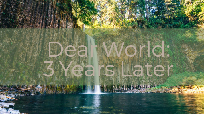 Dear World, From Roseburg: Three years later